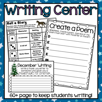 Daily Five Center Work - December and January Bundle