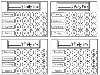 Daily Five Chart