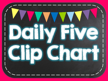 Daily Five Clip Chart