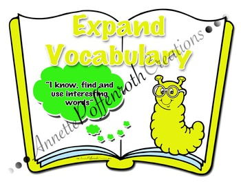 "Daily Five- ""Expand Vocabulary"" Cafe Display"