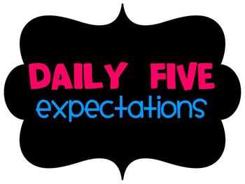 Daily Five Expectations