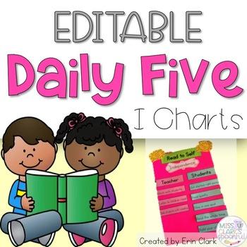 Daily Five I Charts {Editable!}