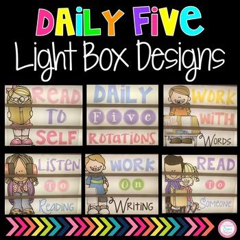 Daily Five Light Box Designs