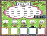 Daily Five Monkey Themed Assignments Interactive Smartboard