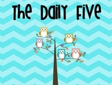 Daily Five Owl and Chevron Posters