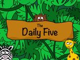 Daily Five Poster / Safari Jungle Animal / Elementary Classroom Decorations
