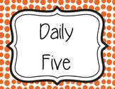 Daily Five Poster Set for Elementary
