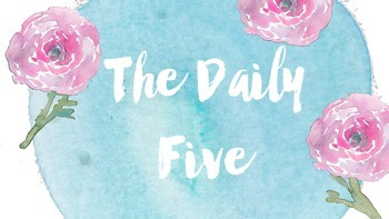Daily Five Poster in Watercolor