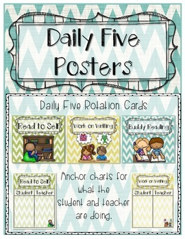 Daily Five Posters (Chevron Theme)