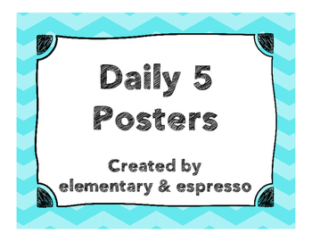Daily Five Posters FREEBIE