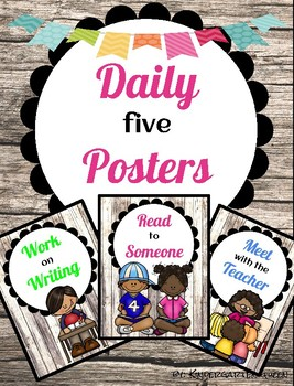 Daily Five Posters {Rustic}