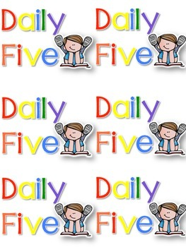 Daily Five Posters and Labels FREEBIE