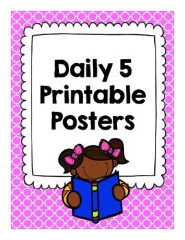 Daily Five Printable Wall Posters