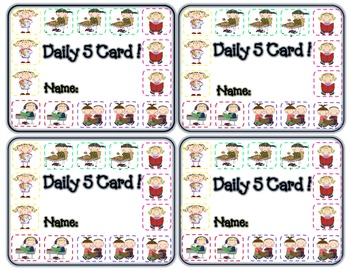 Daily Five Punch Card