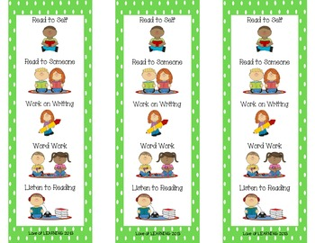 Daily Five Reading Bookmarks Lime Green