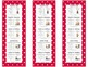 Daily Five Reading Bookmarks Red