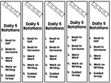 Daily Five Rotation Bookmarks EDITABLE