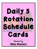 Daily Five Rotation Cards