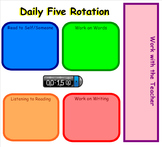 Daily Five Rotation Chart