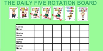 Daily Five Rotation for Smart Board