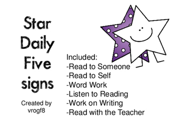 Daily Five Signs - Stars