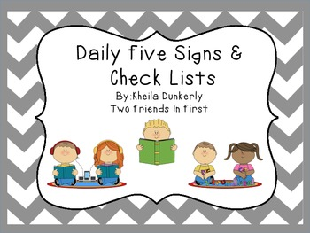 Daily Five Signs and Check List
