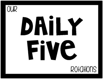 Daily Five Simple Posters {Freebie}