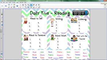 Daily Five Smartboard Check-In