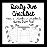 Daily Five Student Checklist for Daily Five Centers