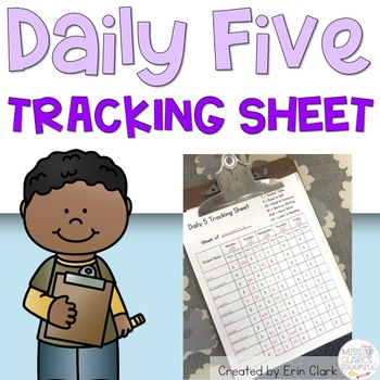 Daily Five Tracking Sheet {FREE}