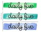 Daily Five Watercolor Labels