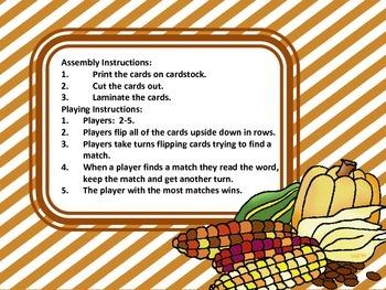 First Grade Thanksgiving Memory