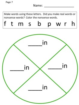 Daily Five Word Work - Word Families