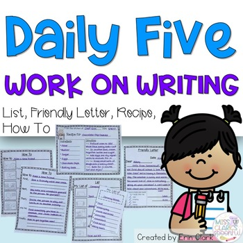 Daily Five Work on Writing Options