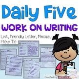 Daily Five Work on Writing Choices