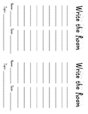 Daily Five Word Work Write the Room Worksheets
