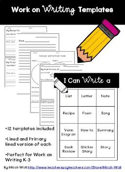 Work on Writing Templates
