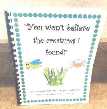 Daily Five Writing Journal - Creatures