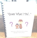 Daily Five Writing Journal - Guess What I Did