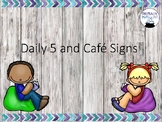 Daily Five and Cafe Signs Industrial/Shabby Chic