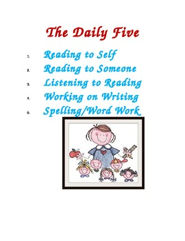 Daily Five and Daily Three Language Arts Posters