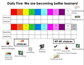 Daily Five and Math Center choice chart