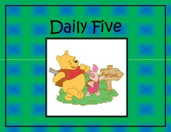 Daily Five (5) with Disney Characters