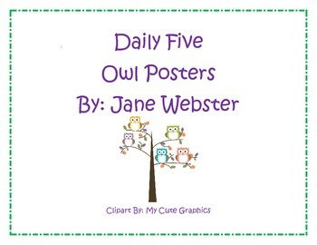 Daily Five (5) with Owls