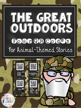 Daily Five QR Codes: 4 Animal Stories for Your Listen to Reading Center
