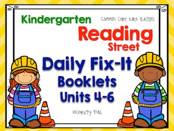 Daily Fix-It Booklets Units 4-6