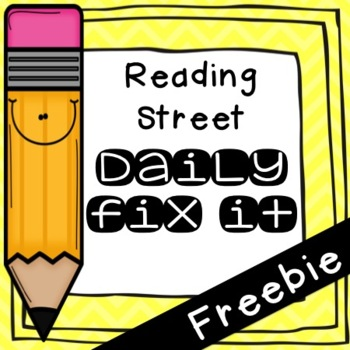 Daily Fix-It Freebie. Unit 3 Week 1 Day 1