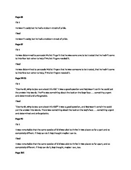 Daily Fix It Grammar, Spelling, Quote Analysis for Hoot by Hiassen