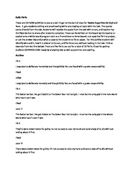 Daily Fix-It Grammar, Spelling, Quote Analysis for Twelve Angry Men