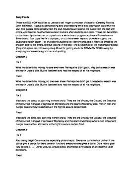 Daily Fix It Grammar, Spelling and Quote Analysis for Cann